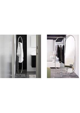Verpan - Clothes Rack - System 1-2-3 Rack by Verner Panton - Chrome