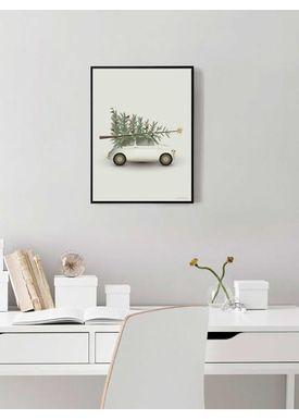 ViSSEVASSE - Poster - Christmas Tree & Little Car - Christmas
