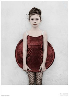 ViSSEVASSE - Poster - Vee Speers - The Birthday Party Series - The girl in the red dress / Untitled #18