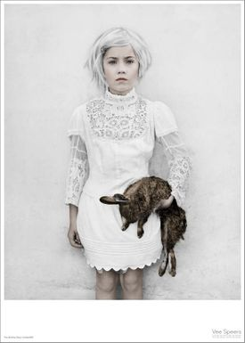 ViSSEVASSE - Poster - Vee Speers - The Birthday Party Series - The girl with the rabbit / Untitled #30