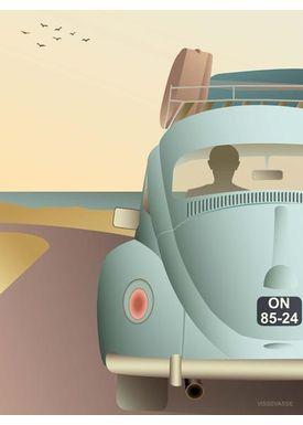 ViSSEVASSE - Poster - VW BEETLE - plakat - VW Beetle