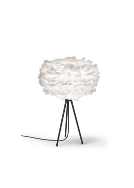 Vita Copenhagen - Lamp - Eos Feather lamp - Black Tablestand with Fabric Wire