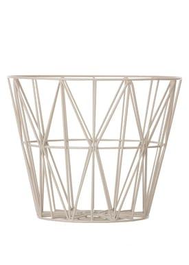 Ferm Living - Basket - Wire Basket - Large - Grey