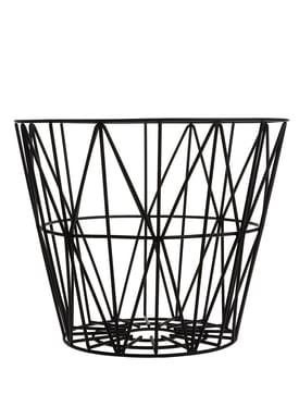Ferm Living - Basket - Wire Basket - Large - Black