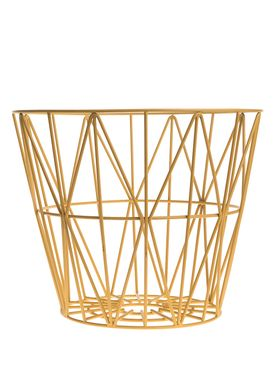 Ferm Living - Basket - Wire Basket - Large - Yellow