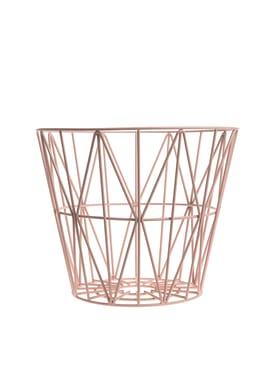 Ferm Living - Basket - Wire Basket - Medium - Rose