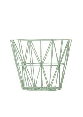 Ferm Living - Basket - Wire Basket - Medium - Mint