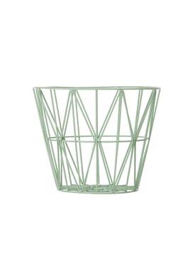 Ferm Living - Basket - Wire Basket - Small - Mint