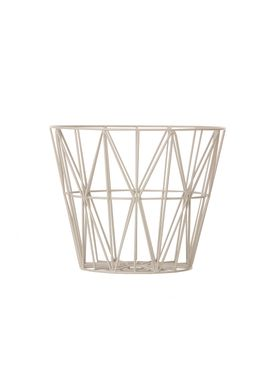 Ferm Living - Basket - Wire Basket - Small - Grey