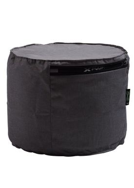 X-POUF - Puf - X Cylinder PU Coated - Dark Grey