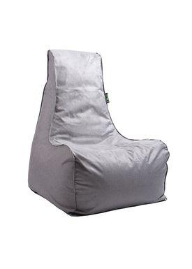 X-POUF - Bean Bag - X-CHAIR Pu Coated - Light Grey