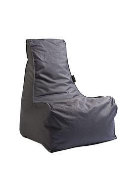 X-POUF - Bean Bag - X-CHAIR Pu Coated - Dark Grey