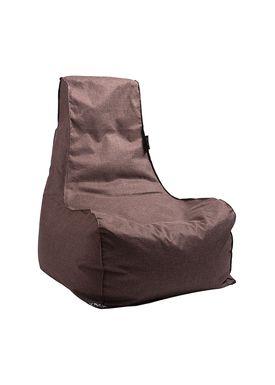 X-POUF - Bean Bag - X-CHAIR Pu Coated - Brown