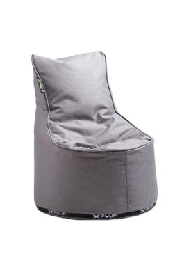 X-POUF - Bean Bag - X Kids Chair PU Coated - Light Grey