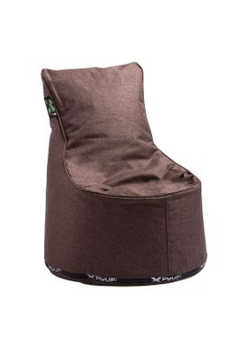 X-POUF - Bean Bag - X Kids Chair PU Coated - Brown