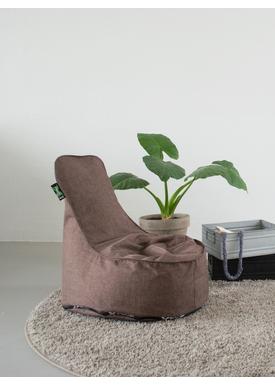 X-POUF - Bean Bag - X Kids Chair PU Coated - LoungeChair Brown