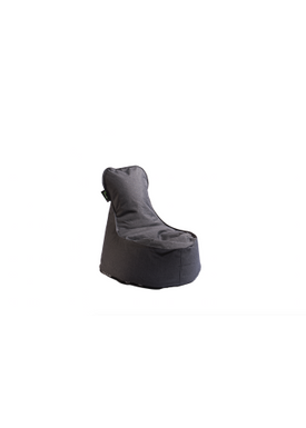 X-POUF - Bean Bag - X Kids Chair PU Coated - LoungeChair Dark Grey