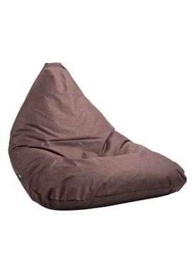 X-POUF - Bean Bag - X-TRIANGLE Pu Coated - Brown