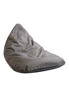 X-POUF - Bean Bag - X-TRIANGLE Pu Coated - Dark Grey