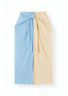 Ganni - Skirt - Light Stretch Cotton Skirt - Block Colour