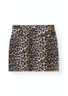 Ganni - Skirt - Print Denim Skirt F3710 - Leopard