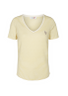 Mos Mosh - T-shirt - Kenia Glam Stripe V-neck - Lemon