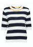 Selected Femme - Knit - Milano Knit O-neck - Dark Sapphire Stripes
