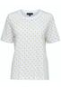 Selected Femme - T-shirt - Standard SS Dot Tee - Bright White/Yellow Dots