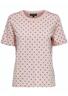Selected Femme - T-shirt - Standard SS Dot Tee - Pink/Dazzling Blue Dots