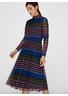 Y.A.S - Dress - Striva Mesh Dress - Navy/Port Royale